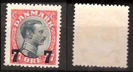 Denmark 1926 King Christian X, 7 øre Overprint On 8øre  Mi  157 Unused  Hinged - 1913-47 (Christian X)