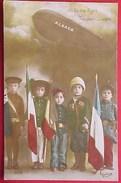 Cpa Patriotique ENFANTS PAYS UNIS , Soldats : RUSSIE ITALIE ANGLETERRE FRANCE CHILDREN SOLDIERS FLAGS - Patriotiques