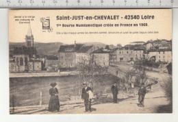 Saint-Just-en-Chevalet - 1re Bourse Numismatique Créée En France En 1969 - Monnaies (représentations)