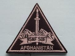AFGHANISTAN - ISAF ( Details - Zie Foto´s Voor En Achter ) !! - Ecussons Tissu
