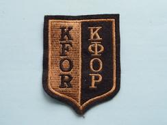KFOR ( Details - Zie Foto´s Voor En Achter ) !! - Ecussons Tissu