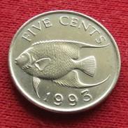 Bermuda Bermudes 5 Cents 1993 KM# 45   Lt 18 - Bermuda