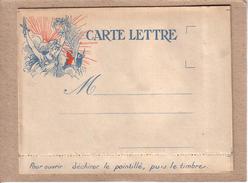 """CARTE LETTRE """" JEAN PROLO VAINQUEUR """" , PROLETAIRE , PROPAGANDE ANTI ALLEMANDE ET ANTI BOLCHEVIQUE - 1877-1920: Période Semi Moderne"""