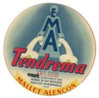 Etiquette Fromage   Normandie   EMA Tendrema Mallet Alençon  Rectif Sur 125g - Formaggio