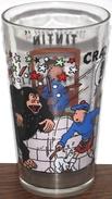 Ancien Verre à Moutarde  TINTIN   L'ile Noire Format Long Drink De 1994 - Publicité