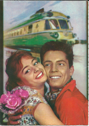 Couples.Train.Post Stamp - PORTO Yugoslavia,RARE - Couples