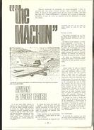 """2 Articles P.Eclancher/ Planeur Avion Modulaire PE 63   """"the MACHIN"""" Avec Agrandissement Des Plans Des Pages 31 Et 51 - Non Classés"""