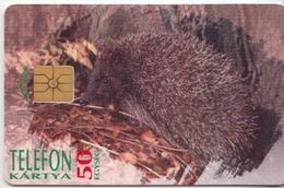 Hungary Phonecard With Hedgehock, Nature - Telefoonkaarten