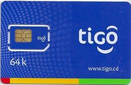 Congo (Kinshasa) - TIGO GSM SIM 64K, Mint - Congo