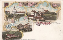 Litho Gruss Aus LANGEGG B.Aggsbach A.d.Donau, Um 1899, Verlag Schwidernoch, Auf Rückseite Klebespuren S.Scan - Autres