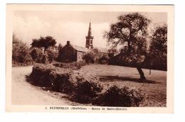 56 Pluherlin Route De Saint Gentien Cpa Animée Carte Non Voyagée - Sonstige Gemeinden