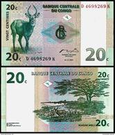 Congo 20 CENTIMES 1997 Serie D-K P 83 UNC - Republic Of Congo (Congo-Brazzaville)