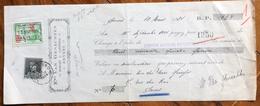 BELGIQUE BELGIO CAMBIALE TRATTA PAGHERO' E.TS.VAN GENECHTEN   CON AUTOGRAFI E MARCHE DA BOLLO - 1900 – 1949