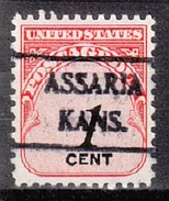 USA Precancel Vorausentwertung Preos Locals Kansas, Assaria 492