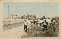 MENNECY LA SUCRERIE BEAU PLAN AVEC ATTELAGE DE BOEUFS - Mennecy