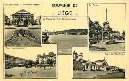 BELGIQUE SOUVENIR DE LIEGE CARTE MULTIVUES - Liege