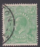 Australia SG 48 1914-24 Large Multiple Watermark King George V, Half Penny Green Used - Used Stamps