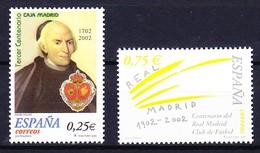 ESPAGNE 2002 YT N° 3444 Et 3445 ** - 2001-10 Unused Stamps