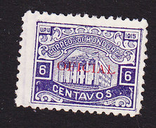 Honduras, Scott #O52, Used, Regular Issued Overprinted, Issued 1915