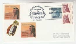 1993 WILD RICE FESTIVAL  Kellther Waskish  NATIVE AMERICAN INDIANS EVENT COVER Usa Stamps Indian - American Indians