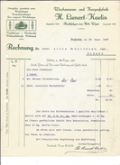F32 - Facture Wachswaren Und Kerzenfabrick Lienert-Kaelin Pour Schulthess Siders Cire D'abeilles - Switzerland