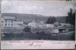 Martelange - La Gare Et Route De Bastogne - Martelange