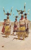 Apache Indian Devil Dancers, Native Costume Masks, C1950s/60s Vintage Postcard - Native Americans