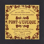 Etiquettes De Fromage. Pont-L'Evèque  La Croix Brière, Beuzeville (27). - Kaas