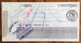 FRANCIA CAMBIALE PAGHERO'  PARIS BAILLE-LEMAIRE & FILS  CON AUTOGRAFI E  BOLLO - 1900 – 1949