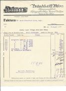 F39 - Facture Brändle & Wil Papierwarenfabrik Pour Alois Schulthess Siders Sierre - Suisse