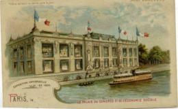 """PARIS - Exposition Universelle 1900 - Le Palais Du Congrès... - Système """"METEOR"""" (""""tenir Vers Le Jour"""") - Précurseur - Tentoonstellingen"""