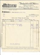 F40 - Facture Brändle & Wil Papierwarenfabrik Pour Alois Schulthess Siders Sierre - Suisse