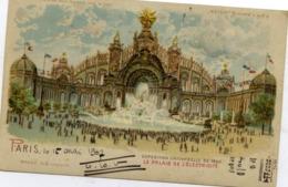 """PARIS - Exposition Universelle 1900 - Le Palais De L'Electricité - Système """"METEOR"""" (""""tenir Vers Le Jour"""") - Précurseur - Tentoonstellingen"""