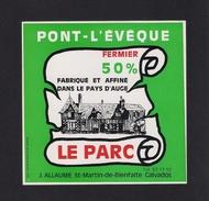 Etiquettes De Fromage. Pont-L'Evèque  Le Parc.  J. ALLAUME, St Martin De Bienfaite (14). - Kaas