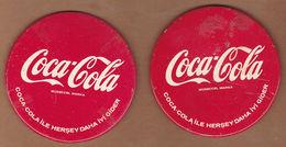 AC - COCA COLA  VINTAGE TIN COASTER 2 PIECES FROM TURKEY - Coasters
