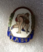 Pin's Lutte .  Jeux Olympiques . L.A 1984 - Wrestling