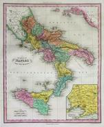 ST-IT Regno Di Napoli Regno Delle Due Sicilie - Tanner 1841 Cm.44,5x35 - Estampes & Gravures