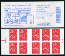 """Carnet De 2005 De 10 Timbres Type """"Lamouche"""" Avec Couvert. Blanche """"Portraits De Régions"""" - Avec RE Sur RGR-2 - Definitives"""