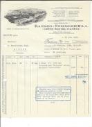 F45 - Facture Randon Friederich Chên-Bourg Genève Pour Alois Schulthess Siders Sierre - Suisse