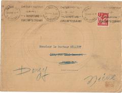 LBR40 - II GM IRIS 1F SUR LETTRE PARIS/PARIS 25/2/1941 FAITE SUIVRE A DONZY NIEVRE ARIVEE 26/2/1941 - 1939-44 Iris