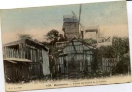 PARIS 18è - MONTMARTRE - Autour Du Moulin De La Galette - Belle Carte Colorisée - Arrondissement: 18