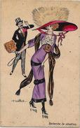 CPA NAILLOD Femme Woman Type Sager Mode Chapeau éditions Artistiques Circulé 129 - Naillod