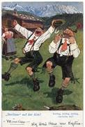 """Allemagne - Bavière - Berliner Auf Der Alm - Dessin De A.K. SCHERZ - """"Doliäng, Doliäng, Doliäng, I-ha-ha-ha, Hui!"""" - Humour"""