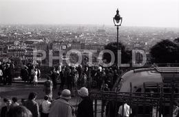 1963 SACRE COEUR PARIS FRANCE 35mm  AMATEUR NEGATIVE NOT PHOTO NEGATIVO NO FOTO VOITURE BUS AUTOBUS - Other