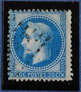 NAPOLEON III.obl .n°29B. Gc PIQUAGE DECALE. - 1863-1870 Napoléon III Lauré