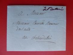 LAC MARQUE MANUSCRIT DE St CALAIS 1780 - Postmark Collection (Covers)