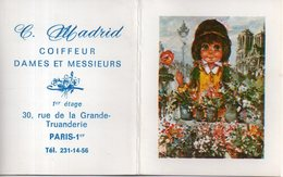 Calendrier 1970 - Bloc-notes Publicitaire C. Madrid Coiffeur, Paris - Sin Clasificación
