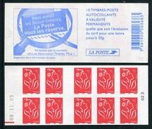 """Carnet De 2005 De 10 Timbres Type """"Lamouche"""" Avec Couvert. Blanche """"Vous Aimez Les Beaux ..."""" - Avec Date 08.11.05 Et RE - Definitives"""