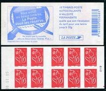 """Carnet De 2005 De 10 Timbres Type """"Lamouche"""" Avec Couvert. Blanche """"Vous Aimez ..."""" - Avec Date 08.11.05 Et RE à Droite - Definitives"""