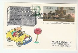 1993 GREATER CADILLAC Business EXPO EVENT COVER Postal STATIONERY Card Usa Stamps Car - Cars